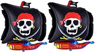 Yeahibaby Globo con Forma de Barco Pirata | 2pcs, Kit de