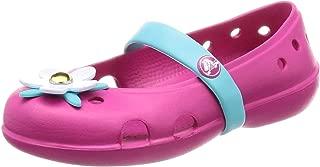 Crocs Unisex-Child Girls Keeley Charm Flat Pink Size: