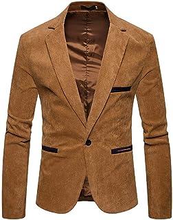 Covermason, Chaqueta Casual Hombre Pana otoño, Abrigo de diseño de Moda de Invierno de los Hombres