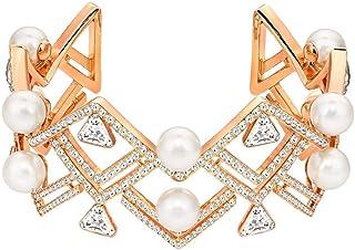 Swarovski Women Metal and Imitation Pearl Cuff Bracelet - 5207246