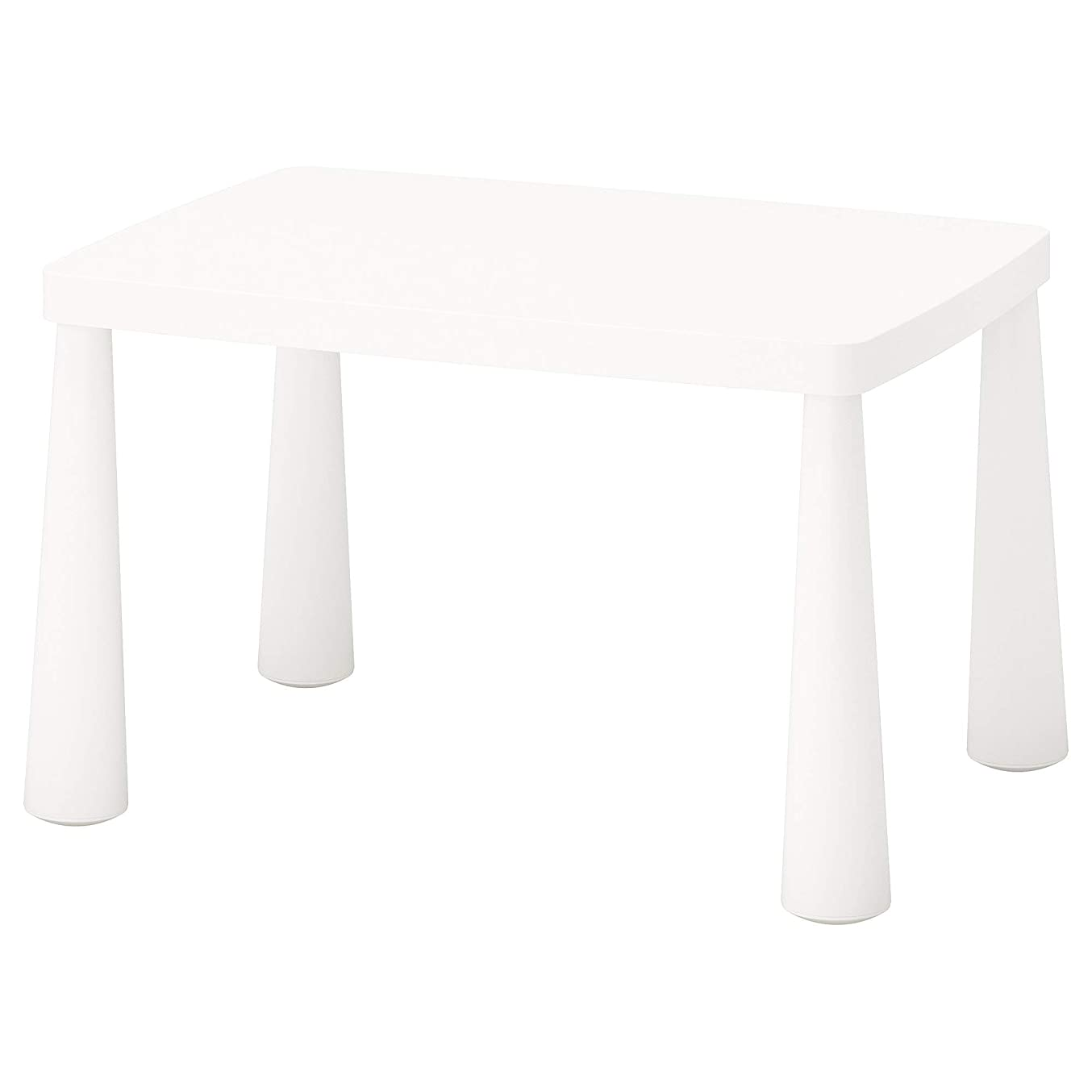 レビュアー既に劇場IKEA/イケア MAMMUT 子供用テーブル77x55 cm ホワイト 70365176