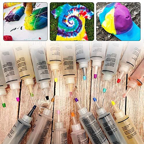 Tie Dye Kit, Kit Di Tintura Per Abbigliamento In Tessuto 18 Colori Fai-da-te One Step Kit Per Tie-dye Colori Pastello Abbigliamento Tintura Per Graffiti Forniture Per Feste Camicia In Tessuto Tinta