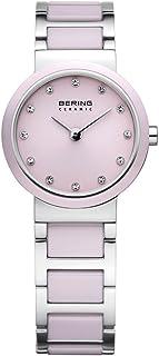 Bering 丹麦品牌 陶瓷系列 女士手表 时尚简约防水陶瓷女表 镶钻钢带石英表女手表