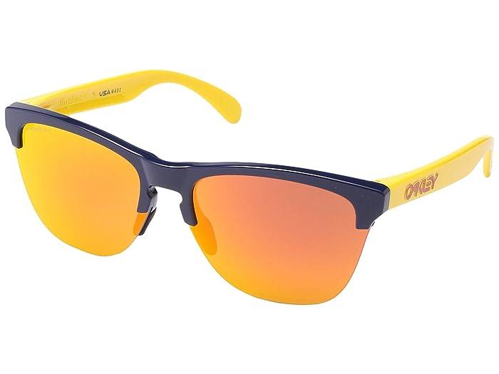 Oakley Frogskins Lite (Snapback Navy w/ PRIZM Ruby) Sport Sunglasses
