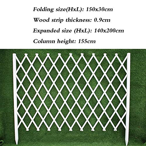 JIANFEI-weilan Tuin Schermen Outdoor Decoratie Plant Klimmen Frame Bloem Bed Border Verstelbare Lengte Bruin Wit, 5 Maten