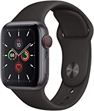 $389 » Apple Watch Series 5 GPS + Cellular - 40mm Space Gray Aluminum Case with Black Sport Band (Renewed)