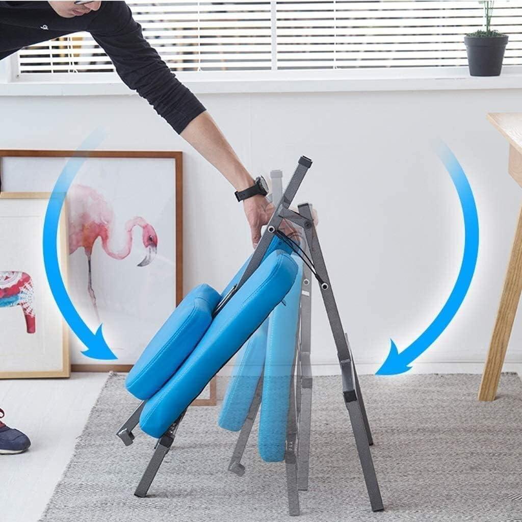 HUXIUPING Genoux Chaise Chaise de Bureau Ergonomique Chaise orthopédique Chaise de Bureau d'étude Amovible Pliable Espace de Stockage (Color : Gray) Gray