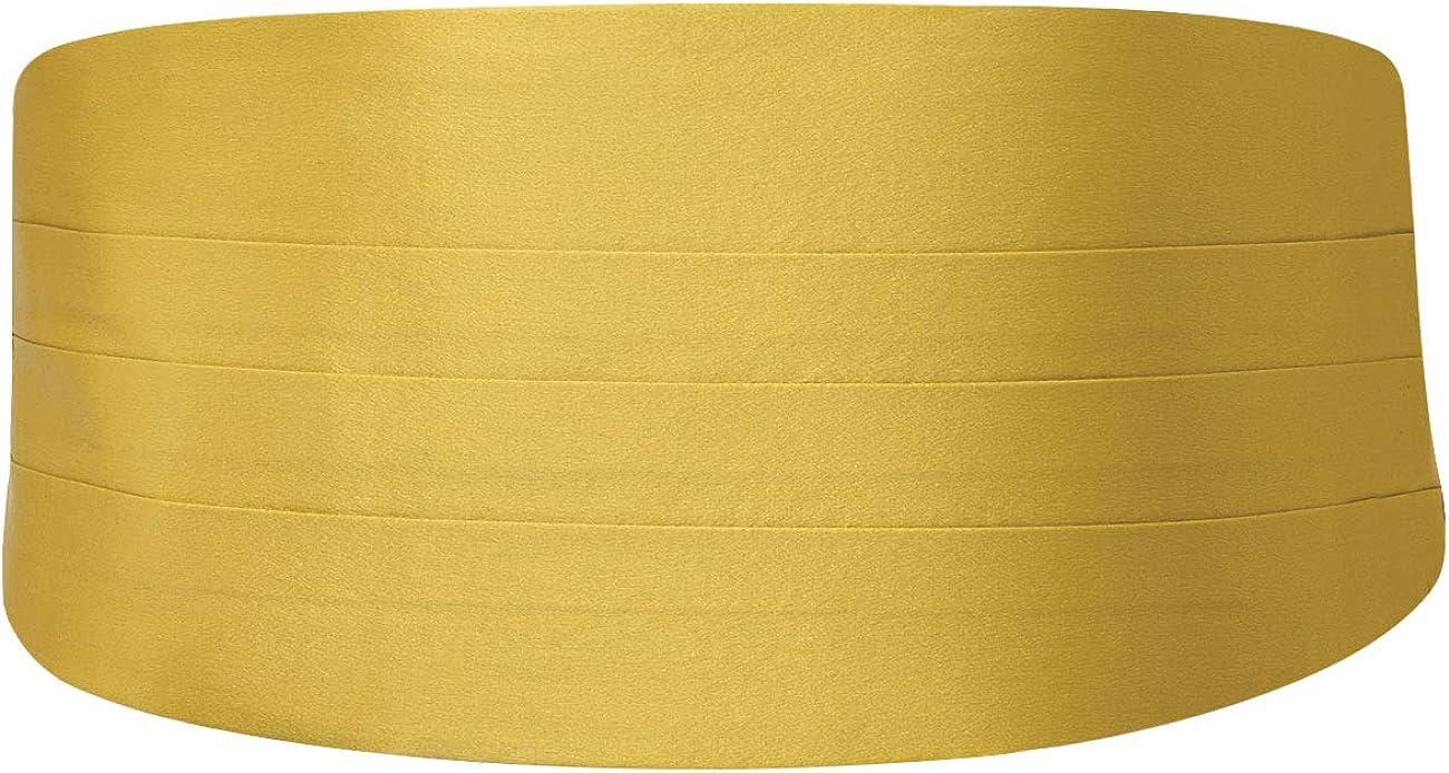 Dobell Mens Gold Cummerbund 100% Silk