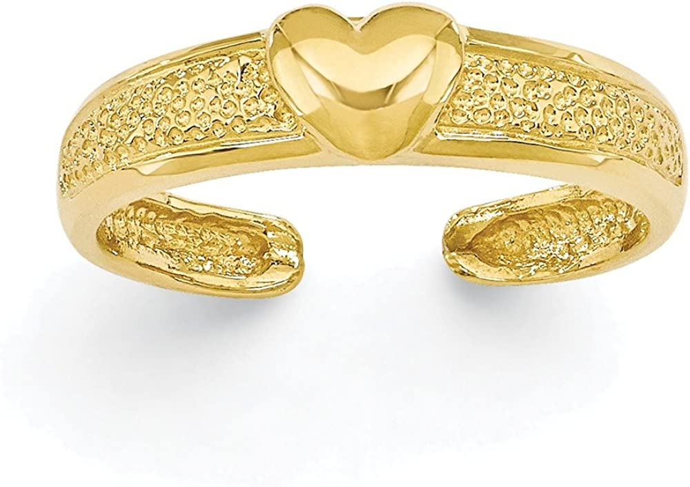 CoutureJewelers 14k Heart Toe Ring