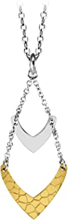 555Jewelry Stainless Steel Dangle Statement Chevron Necklace for Women & Girls