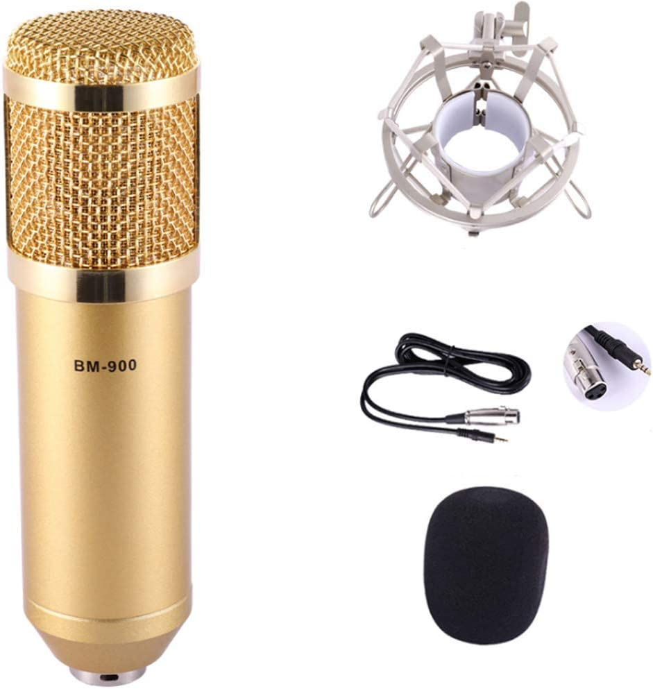 FMOGE Excellence Live Sound Max 48% OFF Card Anchor Condenser Microphone Set