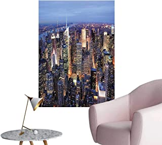 Wall Painting Aerial View NYC Full Skyscrapers Tim Square Famous Cityscape High-Definition Design,24