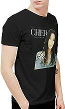LANDONL Men's Cher Dancing Believe Funny Tee Black