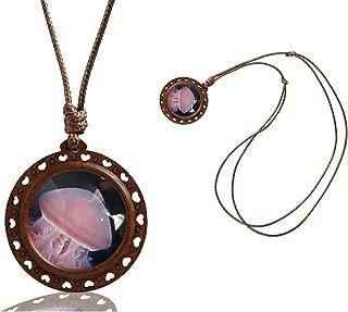 Custom Women Necklace Handmade Wooden Heart Pendants Necklace Jewelry