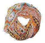 manumar Loop Bufanda unicolor para mujer | pañuelo fino colorido con motivo de a cuadros como accesorio perfecto para el verano | Bufanda mujer de tubo | Fular mujer infinita | idea del regalo