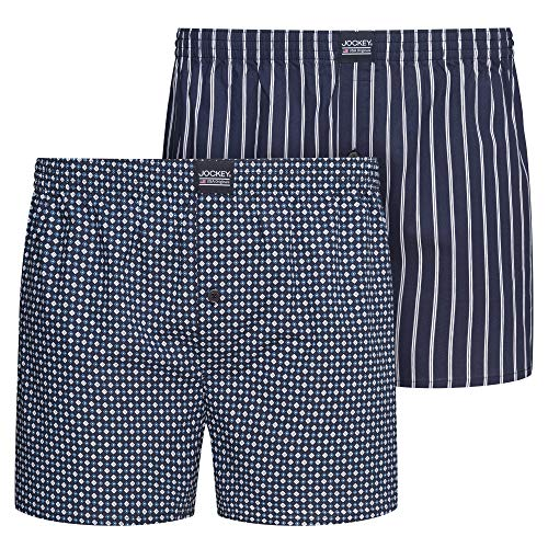 Jockey Everyday Woven Boxer 2Pack, Navy Mix, M