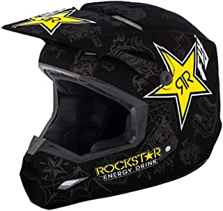 Fly Racing 2018 Kinetic Helmet - Rockstar (Large) (Matte Black/Charcoal/Yellow)