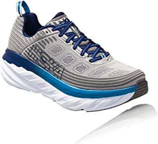 HOKA ONE ONE Mens Bondi 6 Blue/Frost Gray Running Shoe - 11.5