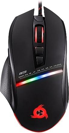 KLIM Skill Souris Gamer Haute Précision - Choisissez la Couleur de Votre Choix - USB Filaire - DPI Ajustables - Boutons Programmables -Confortable pour Toute Taille de Main -Excellent Grip Noir PC PS4
