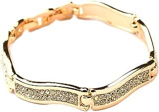 Elegance Bangle Bracelet | Elegant and Chic Bangle Bracelet | Best Fashion Jewelry for Women Girl Teens (Gold)