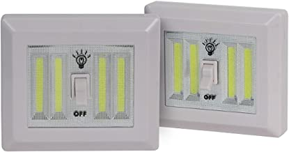AP Products 025-040 Glow Max Cordless Light Switch-400 Lumens, White, 2 Piece