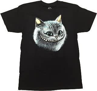 Alice in Wonderland Cheshire Cat Smile Glows in The Dark Graphic T-Shirt