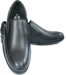 ASM Pure Leather Slip On Shoes with PU Sole, Leather Insole, Fully Leather Lining and Memory Foam for Optimum Comfort for Men. Article : PU104B