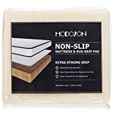 MODOSON Non Slip Mattress Grip Pad, Couch Pads, Rug Pad Gripper, Sofa Pads, Furniture Pads, Kitchen Mat, Mattress Gripper Extra Strong Mattress Liner - Twin Size 37.5' x 74' (3.2'x 6.2')