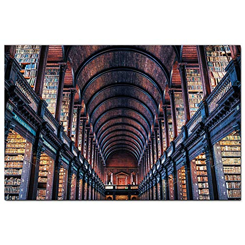Ireland Dublin Trinity College Library Jigsaw Puzzle 1000 Piece Game Artwork Travel Souvenir Wooden
