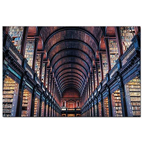 Irlanda Dublino Trinity College Library Puzzle 1000 Pezzi Adult Puzzle in Legno Gioco di Puzzle Souvenir Turismo Regalo