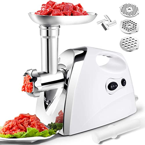 new arrival Giantex 2800W Electric Meat discount Grinder Sausage Stuffer Maker, Stainless outlet online sale Cutting Blade Plates, 3 Sausage and Kubbe Kit, Reverse, for Home Kitchen Commercial Using, 3.8 HP Meat Mincer Sausage Grinder outlet online sale