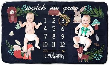 Yinuoday Fleece Baby Monthly Milestone Blanket Extra Large Photography Background Blanket..