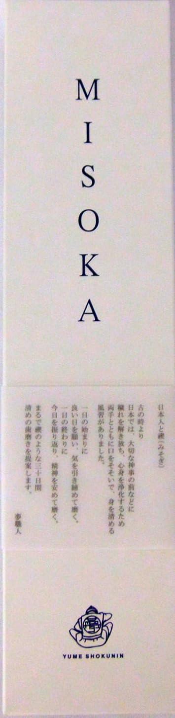絶滅した弾力性のある曲がったMISOKA(ミソカ) 大人用歯ブラシ