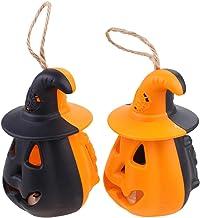 KESYOO 2Pcs Plastic Pumpkin Lights Pumpkin Halloween Lantern Halloween LED Pumpkin Light Pumpkins Indoor Fall Tabletop Dec...