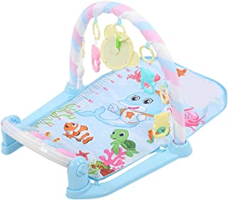 Crawling Mat, Early Educational Sounds Toys Activity Gym Music Pedal Musical Play Mat, for Infants Toddlers(Blue, Baby ped...