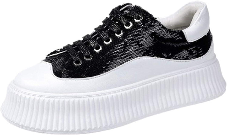Juncals Fashion Women's Sports High Top shoes Hidden Heel PU Wedges White Platform Sneakers
