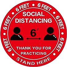 "10 vinyl floor sticker safety Sign Decal RED Arrow Floor Decal warning point 6/"""