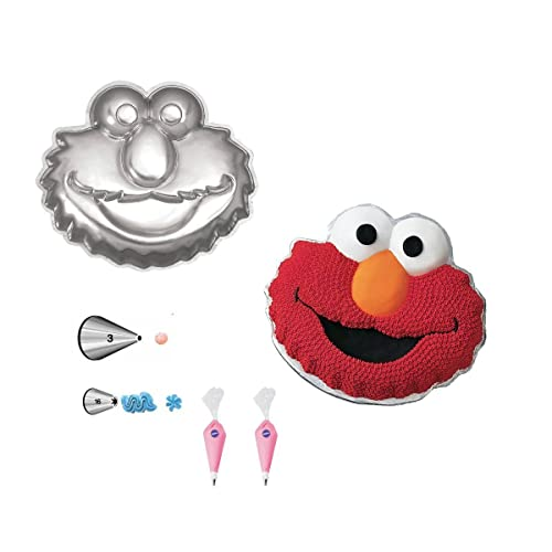 Wilton Elmo Face Cake Pan Bundle Of 5 Items Decorating