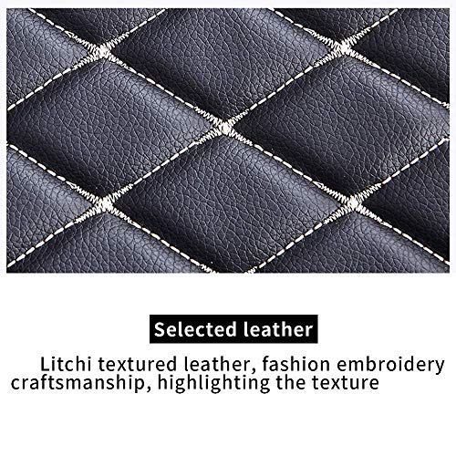 Car Floor Mat Custom Made For 95% of Car Models Full Coverage Interior Protection Waterproof Non-Slip Leather Mat Coffee Color