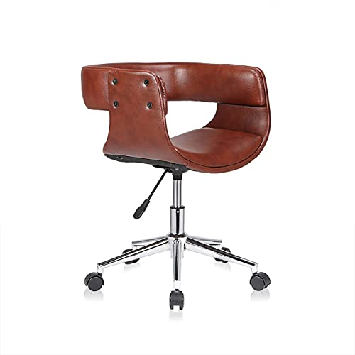 MY SIT Office Swivel Stool Backrest Wheels Adjustable Vintage Design Chair  Retro Dining Style Kitchen Office