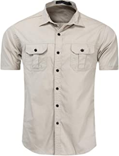 Generic Mens Winter Warm Corduroy Solid Fleece Thick Button Down Shirts