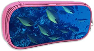 Pencil Case Sea Fish Student Canvas Pen Box Stationery Pouch CosmeticStorage Bag Black