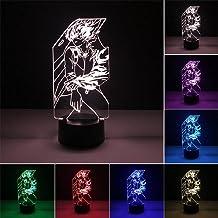 Anime Lights 3D LED,Geanimeerde Model My Hero Academia Beweegbare Doll Nachtlamp,7 Kleur Veranderende Lichten Kamer Decora...