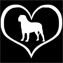 YINGJUN 10.9x9.5CM Mastiff Dog Heart Car Styling interieurstickers Cute Window Animal Decal Accessoires C6-0205 Accessoire...
