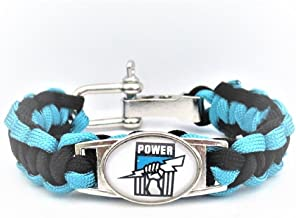 Port Adelaide Australian rules Football Club Paracord Adjustable Bracelet