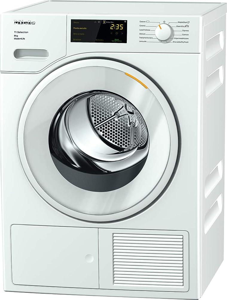 Miele modern life, asciugatrice libera installazione, a++, pompa di calore, carico frontale, 8 kg 12SD3632