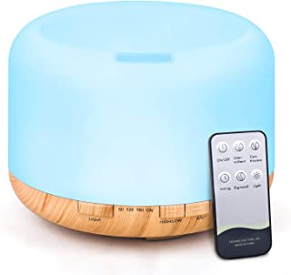 Essential Oil Diffuser, 500ml Diffusers for Essential oils with Remote Control,..