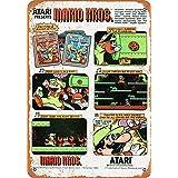 なまけ者雑貨屋 Atari Presents Mario Bros. ガレージ サインボード ビンテージ 看板 インテリア アート デザイン ボード 40×30cm