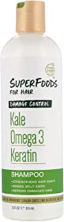 Petal Fresh SuperFoods Damage Control Shampoo (Kale, Omega 3 & Keratin) | SuperFoods Beauty
