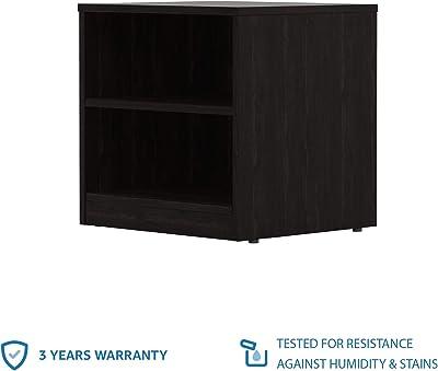 Amazon Brand - Solimo Aquilla Engineered Wood Bedside Table (Wenge Finish)